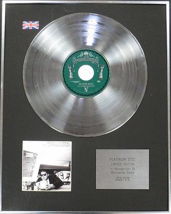 BEASTIE BOYS - Limited Edition CD Platinum Disc - ILL COMMUNICATION