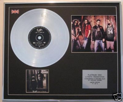KORN - CD Platinum Disc+Photo - LIFE IS PEACHY