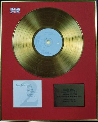 JAMES TAYLOR - Ltd Edition CD 24 Carat  Gold Disc - GREATEST HITS Vol 2