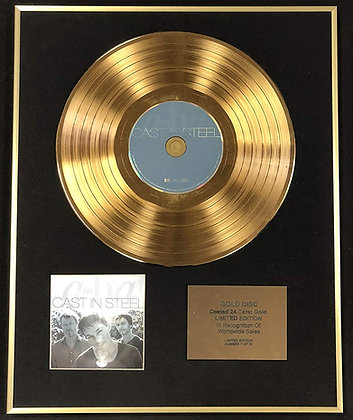 A-ha - Exclusive Limited Edition 24 Carat Gold Disc - Cast In Steel
