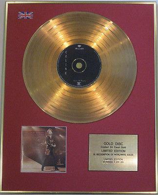 CELINE DION - Limited Edition CD 24 Carat Gold Disc - LIVE IN PARIS
