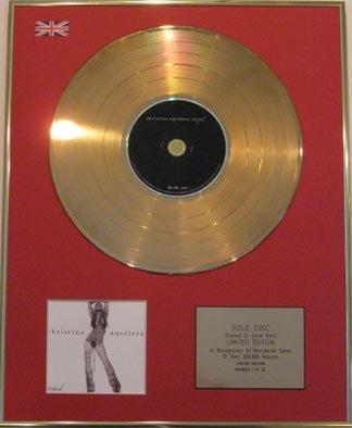 CHRISTINA  AGUILERA - Ltd Edt CD Gold Disc - STRIPPED