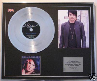 ADAM LAMBERT-Platinum Disc+Photo-FOR YOUR ENTERTAINMENT