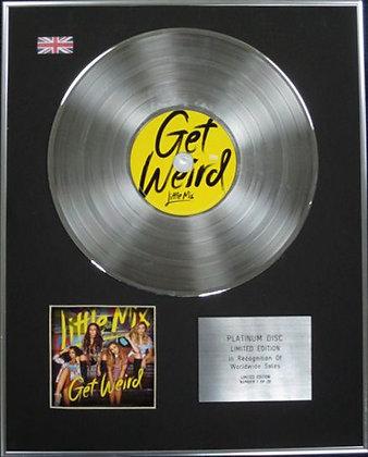 LITTLE MIX - Limited Edition CD Platinum Disc - GET WEIRD