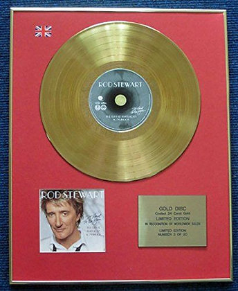 Rod Stewart - Limited Edition CD 24 Carat Gold Coated LP Disc - It Had to Be You