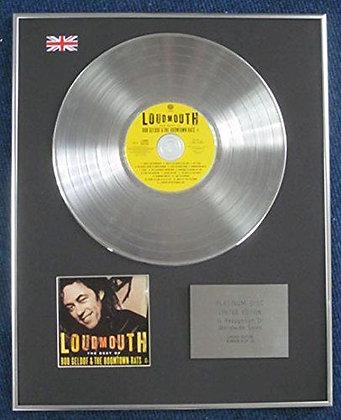 Bob Geldof - Limited Edition CD Platinum LP Disc - Loudmouth(The Best Of)