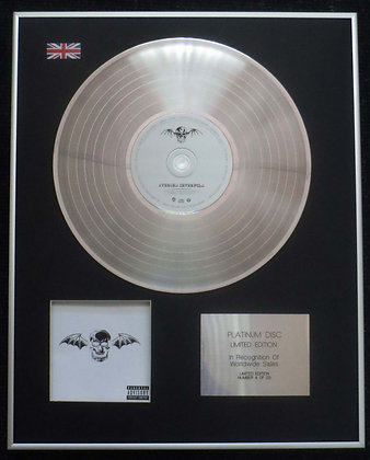 Avenged Sevenfold - Limited Edition CD Platinum LP Disc - 'Avenged Sevenfold'