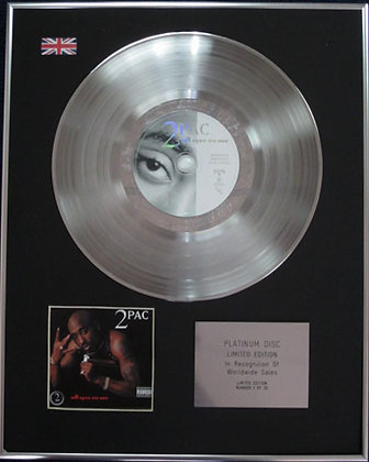 2Pac - Limited Edition CD Platinum Disc - ALL EYEZ ON ME