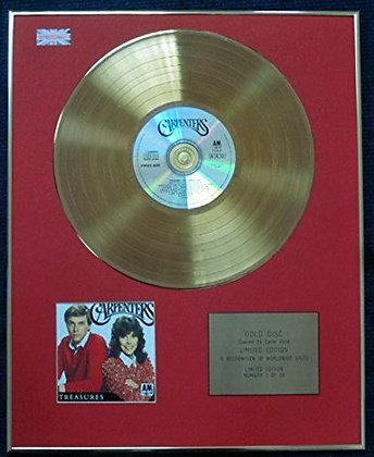 Carpenters - CD 24 Carat Gold Coated LP Disc - Treasures