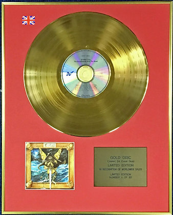 JETHRO TULL - Ltd Edition CD 24 Carat Coated Gold Disc - BROADSWORD…