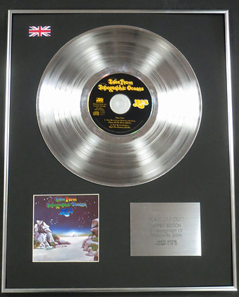 YES - Limited Edition CD Platinum LP Disc - TALES OF TOPOGRAPHIC OCEANS