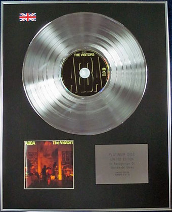 ABBA - Limited Edition CD Platinum Disc - VISITORS