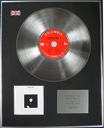 LEONARD COHEN - CD Platinum Disc - SONGS FROM A ROOM