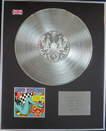 ROB ZOMBIE - Limited Edition CD Platinum Disc - AMERICAN MADE MUSIC TO STRIP BY