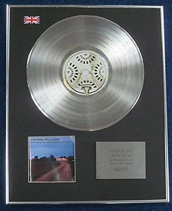 Lucinda Williams- LTD Edition CD Platinum LP Disc - Car Wheels on?