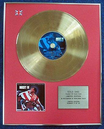 Rocky IV - Limited Edition CD 24 Carat Gold Coated LP Disc - Original Soundtrack