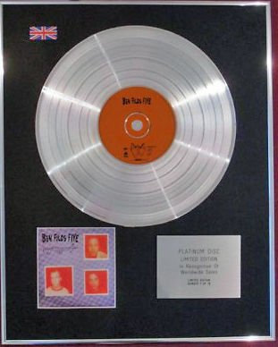 BEN FOLDS FIVE - CD Platinum Disc - Whatever And Ever Amen
