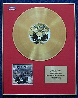 Iced Earth - Limited Edition CD 24 Carat Gold Coated LP Disc - Something Wicked…
