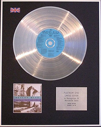 DEACON BLUE - CD Platinum Disc - OUR TOWN (THE GREATEST HITS)