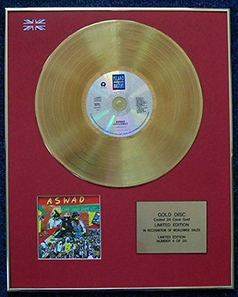 Aswad - Limited Edition CD 24 Carat Gold Coated LP Disc - Live and Direct