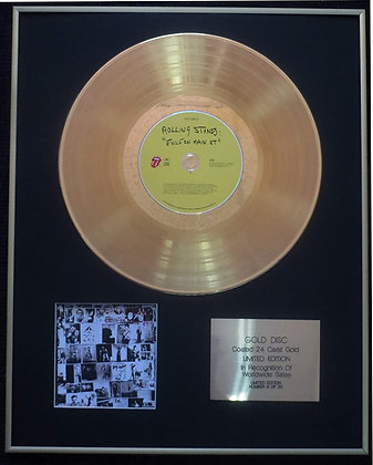 The Rolling Stones  Exclusive Limited Edition 24 Carat Gold Disc -Exile on Main
