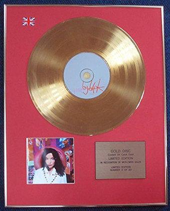 Bjork- Limited Edition CD 24 Carat Gold Coated LP Disc - Bjork