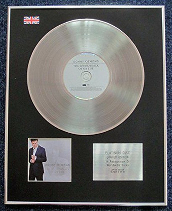 Donny Osmond - Limited Edition CD Platinum LP Disc - The Soundtrack Of My Life