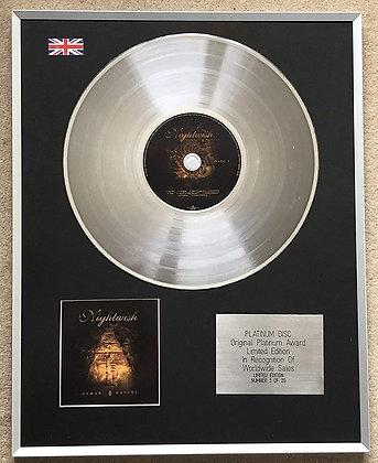 NIGHTWISH – Limited Edition CD Platinum Disc – HUMAN. NATURE