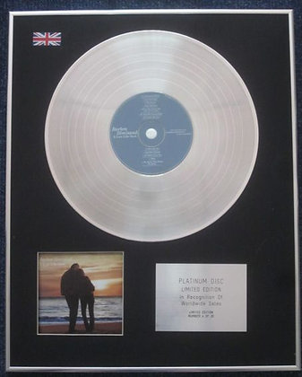 BARBRA STREISAND - Limited Edition CD Platinum LP Disc - A LOVE LIKE OURS 2