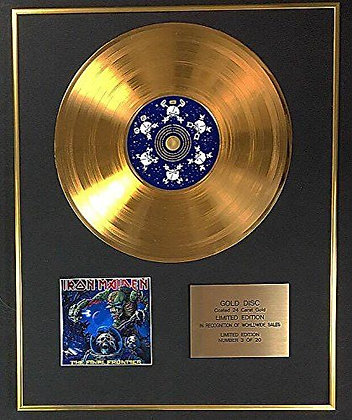 Iron Maiden - Exclusive Limited Edition 24 Carat Gold Disc - The Final Frontier