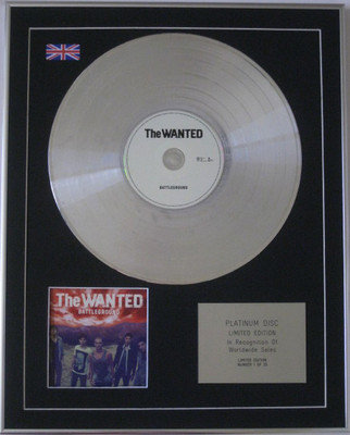 THE WANTED - Limited Edition CD Platinum Disc - BATTLEGROUND