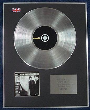BLACK REBEL MOTORCYCLE CLUB- Limited Edition CD Platinum LP Disc -B.R.M.C.