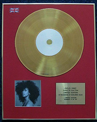 Alicia Keys - Limited Edition CD 24 Carat Gold Coated LP Disc - Here