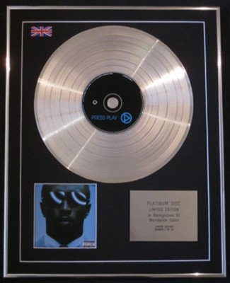P.DIDDY - Ltd Edtn CD Platinum Disc - PRESS PLAY