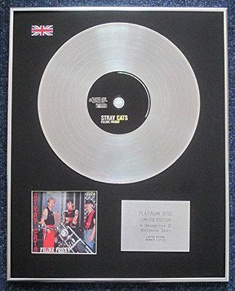 STRAY CATS - Limited Edition CD Platinum LP Disc - FELINE FRISKY