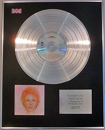 FRIDA - (of ABBA) - Ltd Edition CD Platinum Disc - SOMETHING'S GOING ON