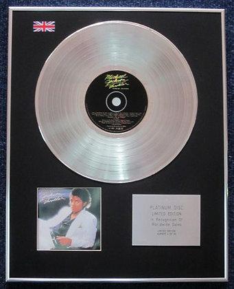 Michael Jackson - Limited Edition CD Platinum LP Disc - Thriller Special