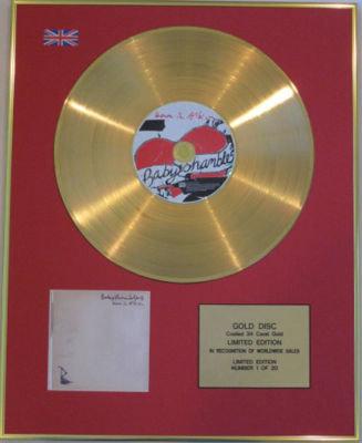 BABYSHAMBLES - CD 24 Carat Gold Disc - DOWN IN ALBION
