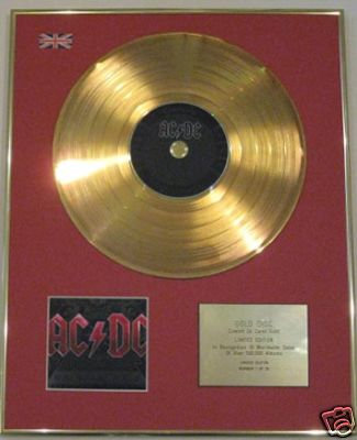 AC\DC - Ltd Edition 24 Carat CD Gold Disc - BLACK ICE