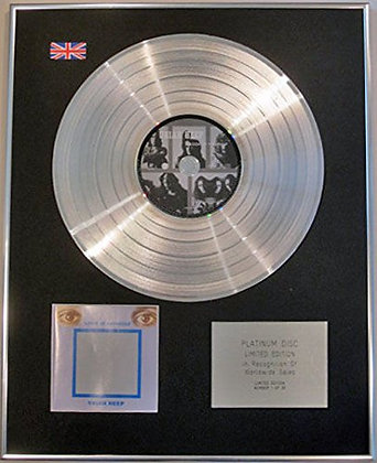 URIAH HEEP - Limited Edition CD Platinum Disc - LOOK AT YOURSELF