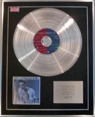 HARRY CONNICK, JR. - Limited Edition CD Platinum Disc - BLUE LIGHT,RED LIGHT