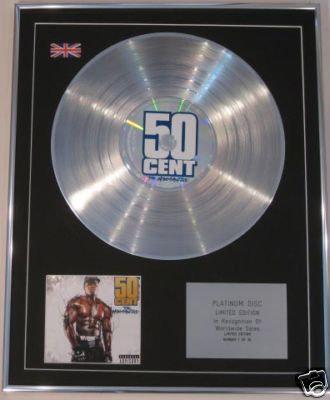 50 CENT - Ltd Edt CD Platinum Disc - THE MASSACRE