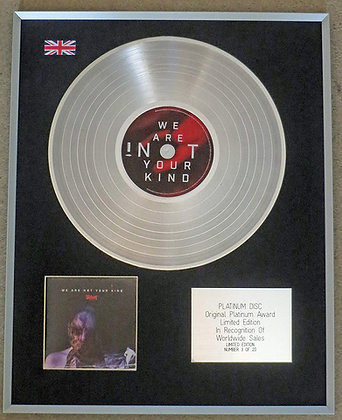 SLIPKNOT - Limited Edition CD Platinum LP Disc - WE ARE NOT YOUR KING