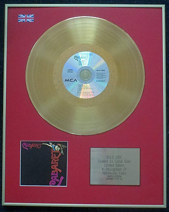 Cabaret with Liza Minnelli - Limited Edition CD 24 Carat Gold Coated LP Disc - O