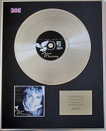ANN MURRAY - Limited Edition CD Platinum Disc - THE VERY BEST
