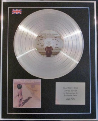 TAKING BACK SUNDAY  CD Platinum Disc-WHERE YOU WANT TO