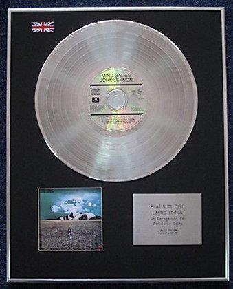 John Lennon - Limited Edition CD Platinum LP Disc - Mind Games