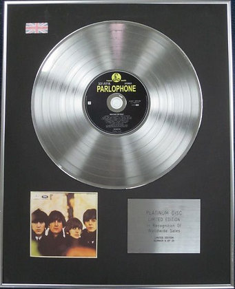 THE BEATLES - Limited Edition CD Platinum Disc - BEATLES FOR SALE