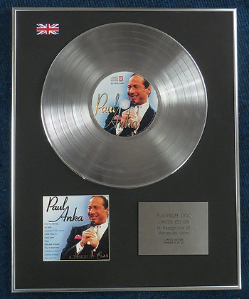 PAUL ANKA - Limited Edition CD Platinum LP Disc - A TOUCH OF CLASS