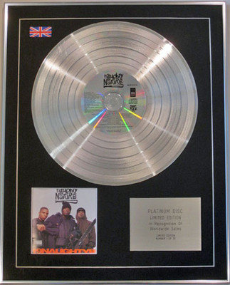 NAUGHTY BY NATURE - Limited Edition CD Platinum Disc - 19 NAUGHTY III